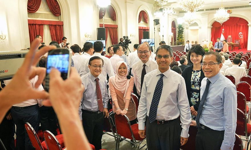 MPs and NCMPs at the swearing-in of the Cabinet at the Istana in October 2015. The Constitution was amended in 2016 to give NCMPs equivalent voting rights as elected MPs. These changes will take effect in the next term of government. But the oppositi