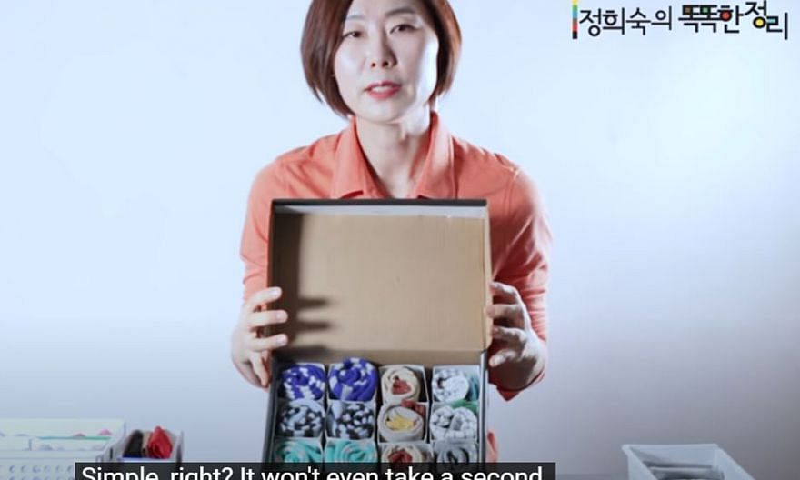 """Ms Jung Hee-sook is the author of two books and owner of a YouTube channel that helps people to master the art of """"smart tidying""""."""