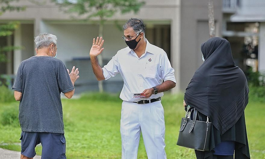 Mr Murali Pillai, incumbent PAP MP for Bukit Batok, on a walkabout last week. Providing a report card of his time as MP since winning a 2016 by-election in the SMC, he said he and his team have introduced a number of successful programmes for residen