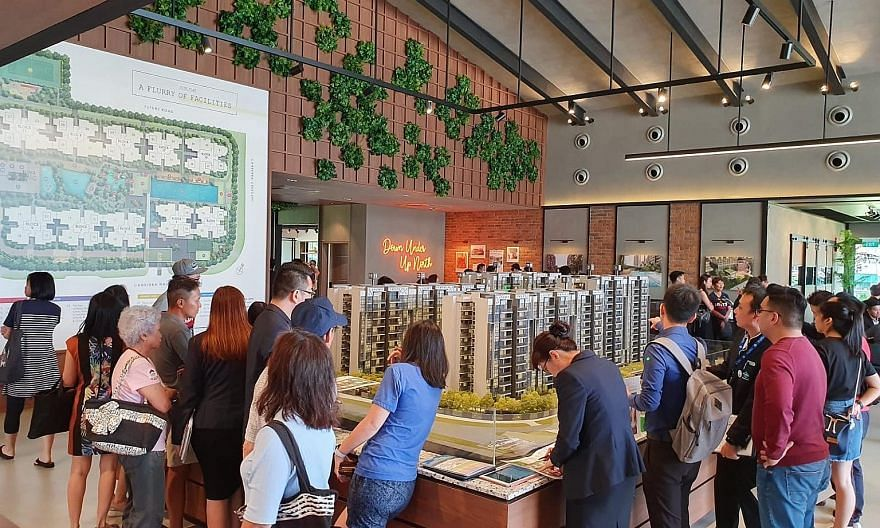 People visiting the Parc Canberra executive condominium sales gallery. Close to one million homes here are now funded fully or partially with Central Provident Fund money. In good times, it may be fine to use retirement funds to pay home loans, the w