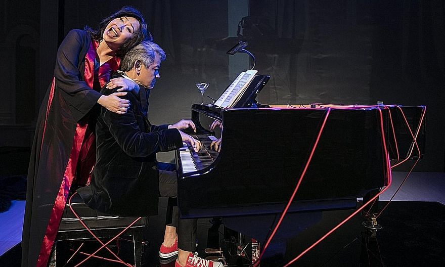 Soprano Jennifer Lien and pianist Shane Thio in the Singapore Symphony Group's production of Francis Poulenc's opera La Voix Humaine.