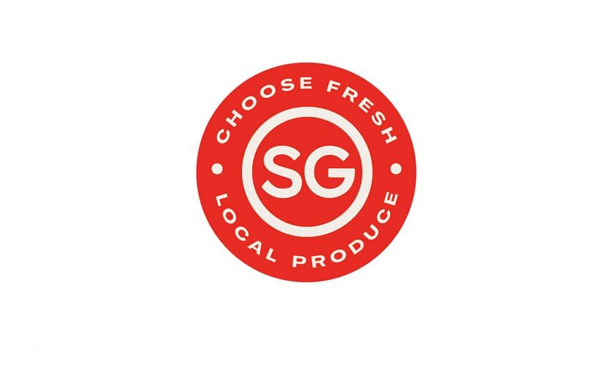 """The """"SG Fresh Produce"""" logo was created in consultation with more than 30 local farmers, retailers and industry associations. The push to support local produce comes as Singapore ramps up local food production in order to hit its """"30 by 30"""" goal - to"""
