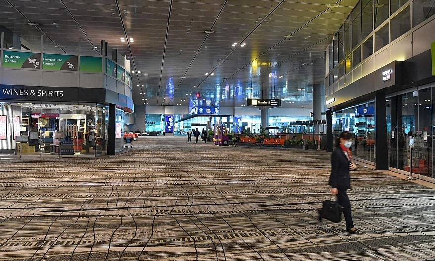 A quiet transit area in Changi Airport's Terminal 3 on Aug 3. It is the possibility of revisiting a favourite holiday destination or of catching up with family overseas that keeps us going, says the writer, especially after almost half a year of move