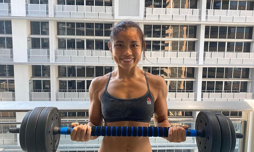 Ms Jacqueline Toh won first place in her height category at the HomeTeamNS Fitness Ironman and Fitness Movement Singapore Nationals competitions last year.