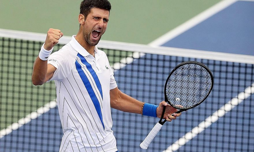 Novak Djokovic improved to 23-0 this year on Saturday by defeating Canada's Milos Raonic 1-6, 6-3, 6-4 in the ATP Western & Southern final. The Serb is on his second-best start to a season after going 41-0 in 2011. PHOTO: AGENCE FRANCE-PRESSE