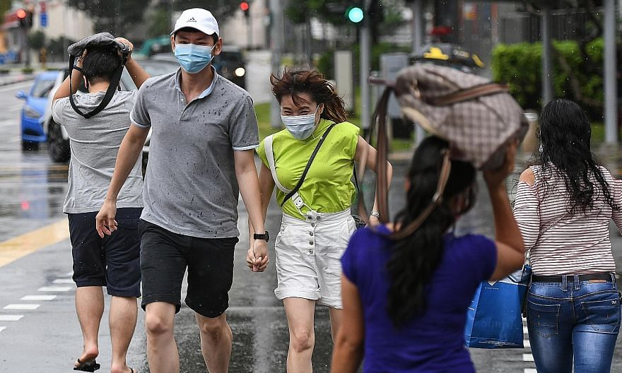 The Meteorological Service Singapore said the daily maximum temperature over the first half of this month is forecast to be between 32 deg C and 33 deg C, rising to around 34 deg C on a few days, despite showers on most days. Warm and humid nights ar