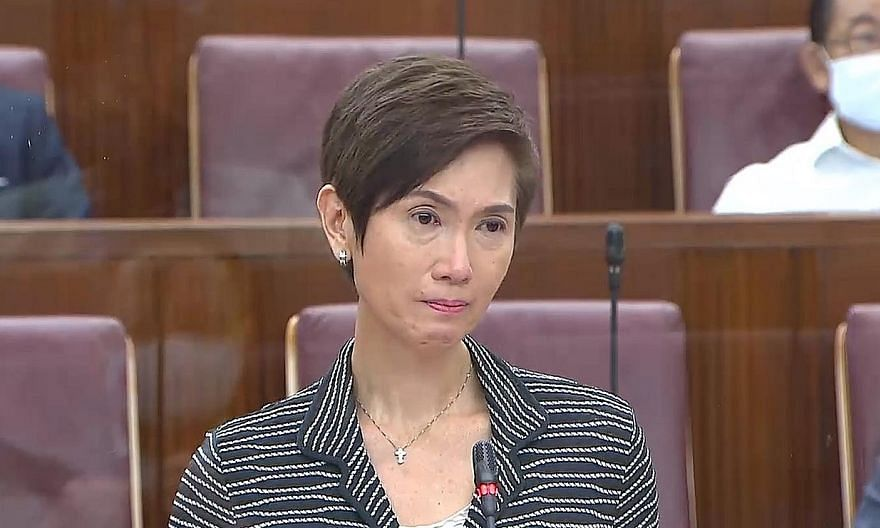 """Manpower Minister Josephine Teo teared up during her Parliament speech yesterday as she pledged that the Government would do its best to protect workers, and that """"however tough it may be, we will help you bounce back""""."""