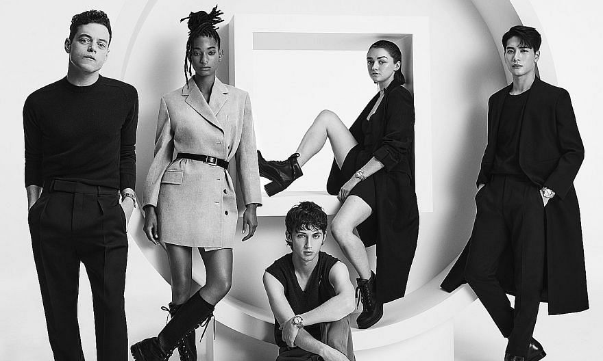 The faces of Pasha de Cartier (from far left) Rami Malek, Willow Smith, Troye Sivan, Maisie Williams and Jackson Wang. The new-generation Pasha de Cartier watch features updates such as the easy changing of straps.