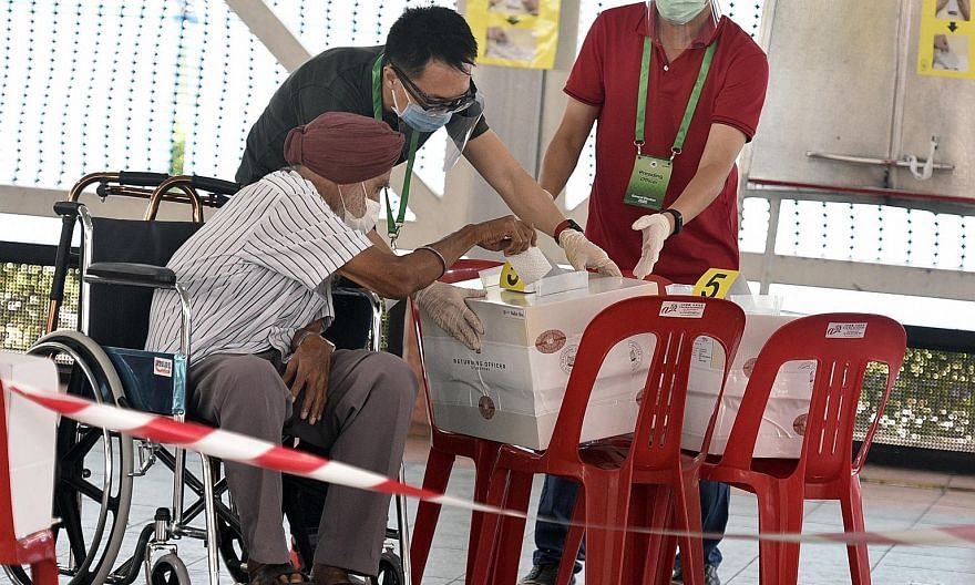 A voter casting his ballot in the general election on July 10. In Singapore, there have no doubt been instances of tactical voting, and not only in the most recent general election, says the writer.