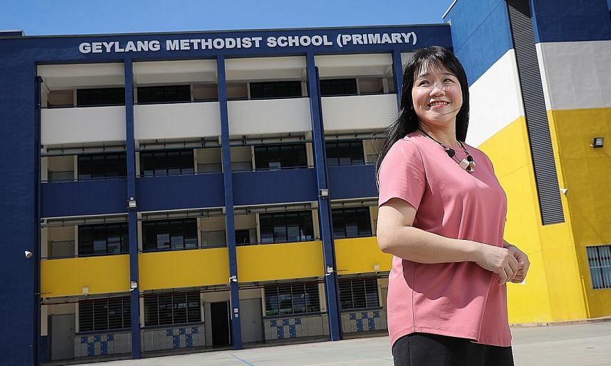 Miss Tan Li Ling from Geylang Methodist School (Primary) helped a pupil who had anger management issues by encouraging other pupils to make friends and play with him during recess. Yesterday, the 47-year-old was one of three recipients of the Nationa