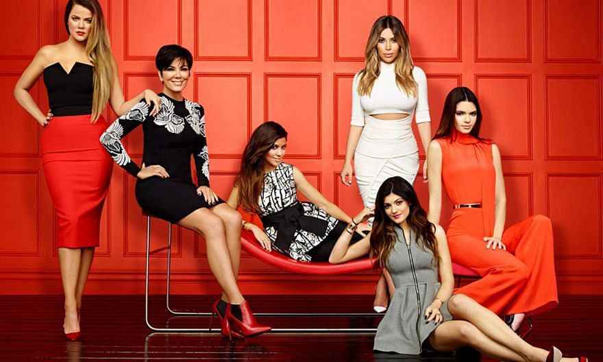 A still from Keeping Up With The Kardashians 10: (from far left) Khloe Kardashian, Kris Jenner, Kourtney Kardashian, Kim Kardashian, Kendall Jenner and Kylie Jenner (in front).