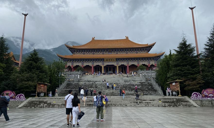 Tourist attractions like China's Chongsheng Temple (above) in Yunnan have a cap on visitor numbers. But holiday habits have also been changed by Covid-19: Travellers prefer to travel in smaller groups, for example. ST PHOTO: ELIZABETH LAW