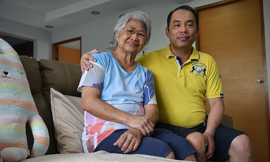 Madam Ng Chong Poy, 74, has mild dementia, and was initially moody about her diagnosis. But her eldest son and caregiver, Mr Raymond Shong, 51, says that the Post Diagnostic Support programme their family was referred to has helped improve his mother