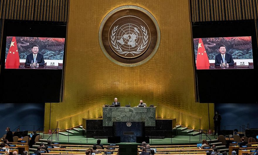 Chinese President Xi Jinping, addressing the UN General Assembly in New York City via video link on Tuesday, said China aims to be carbon neutral before 2060 and that its carbon dioxide emissions would peak before 2030.
