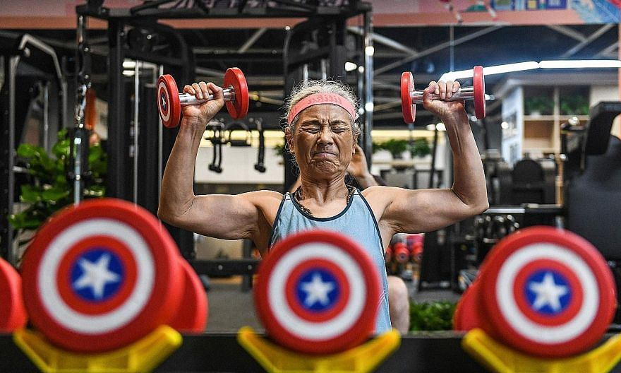Madam Chen Jifang, 68, has 410,000 followers on TikTok who track her lung-busting exercise moves. Once, she fell but told passers-by not to call an ambulance because she had been exercising and was okay.