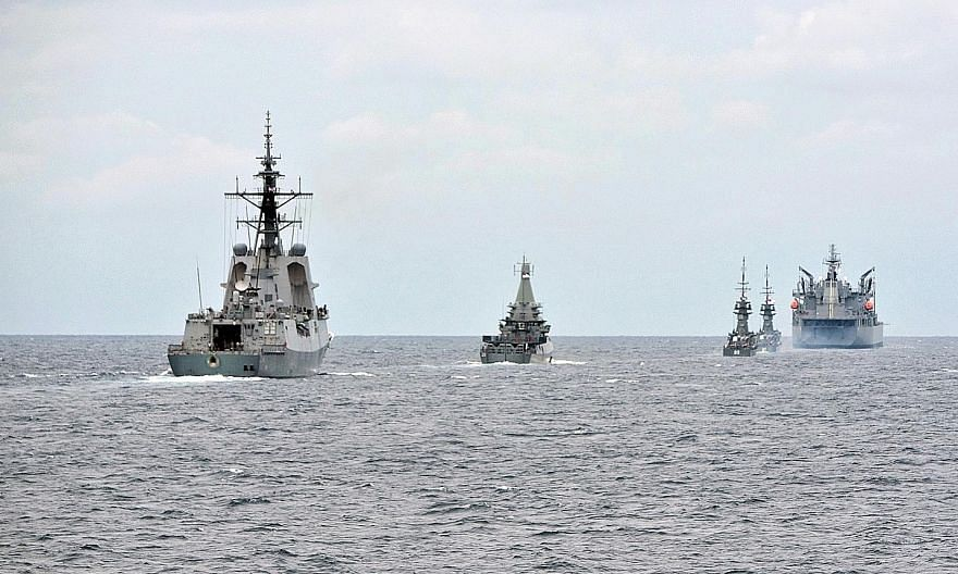 The maritime exercise in the southern reaches of the South China Sea marks the 25th anniversary of Exercise Singaroo.