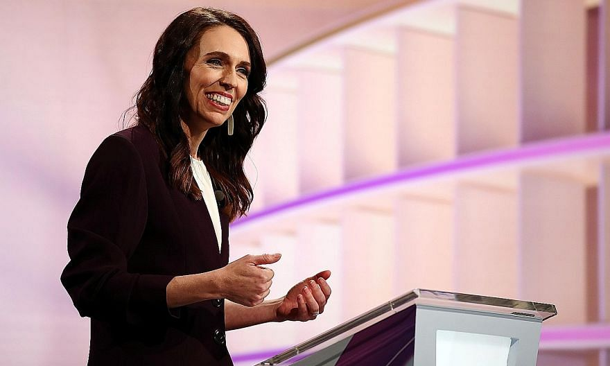 Should the poll findings materialise, New Zealand Prime Minister Jacinda Ardern would govern without relying on any coalition partners. PHOTO: REUTERS