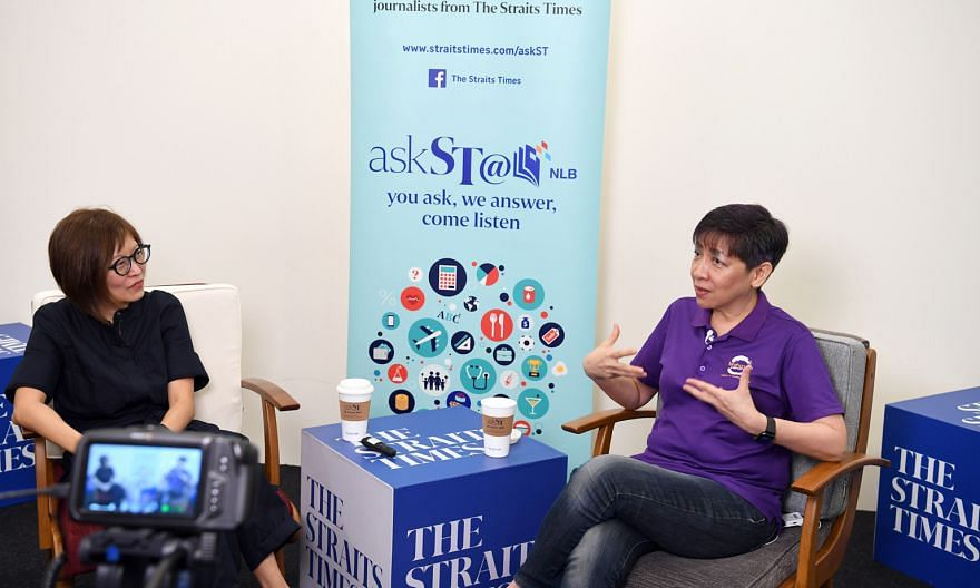 The Straits Times' senior health correspondent Joyce Teo (far left) with mindfulness expert and trainer Angie Chew at the askST@NLB talk.