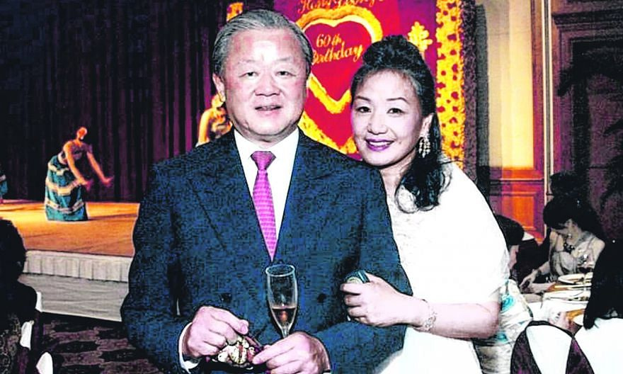 A file photo of Mr Oei Hong Leong and his wife, Mrs Angela Oei, at the tycoon's 60th birthday celebration. PHOTO: ANGELA OEI