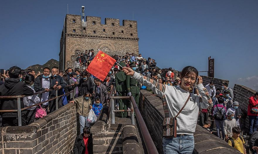 Domestic tourism is getting a big boost with people free to travel within China, and the Great Wall drew huge crowds yesterday. Even Wuhan, where the coronavirus outbreak began, is seeing a visitor influx.