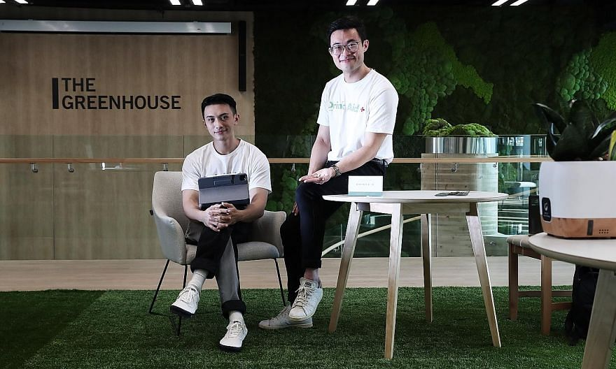 Mr Ryan Foo (far left) and Mr Solomon Poon developed a supplement, DrinkAid, which claims to combat alcohol consumption's negative side effects like intoxication, Asian flush and hangovers.