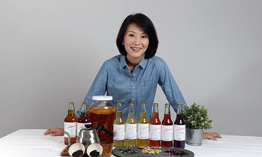 Ms Lim Geok Keng, founder of kombucha brand Chateaux, picked up useful information about grants and services for small and medium-sized enterprises from the OCBC Virtual SME Campus webinars. She also gained a better understanding of digital marketing