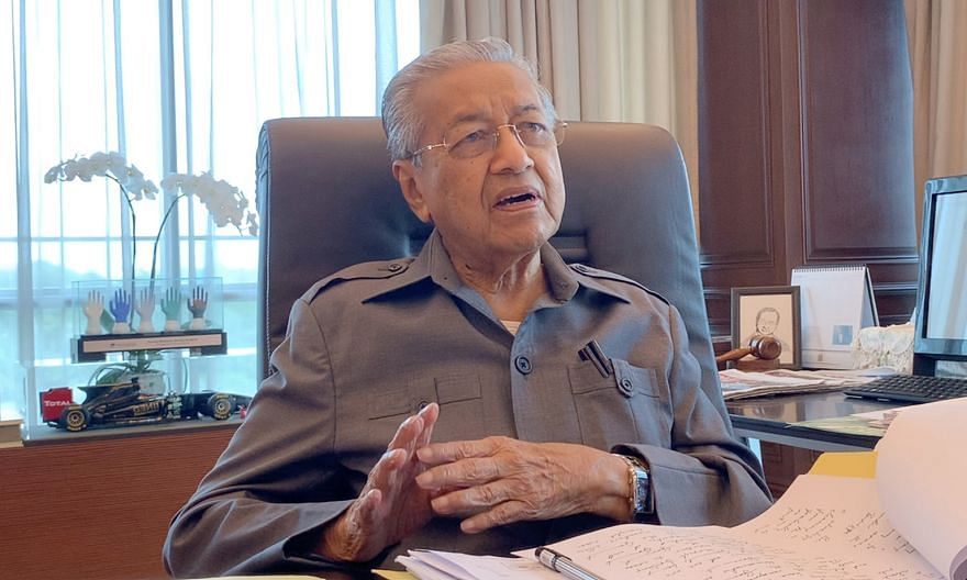 """Former Malaysian premier Mahathir Mohamad (above) told The Straits Times that his successor Muhyiddin Yassin """"has adopted the kind of strategy that Najib had, undermining all those who are against him"""". ST PHOTO: SHANNON TEOH"""