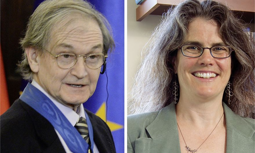 Professor Roger Penrose (left), Professor Andrea Ghez (right) and Professor Reinhard Genzel will share the Nobel Prize sum of 10 million Swedish kronor (S$1.5 million), with half going to Prof Penrose and the other half jointly to Prof Genzel and Pro