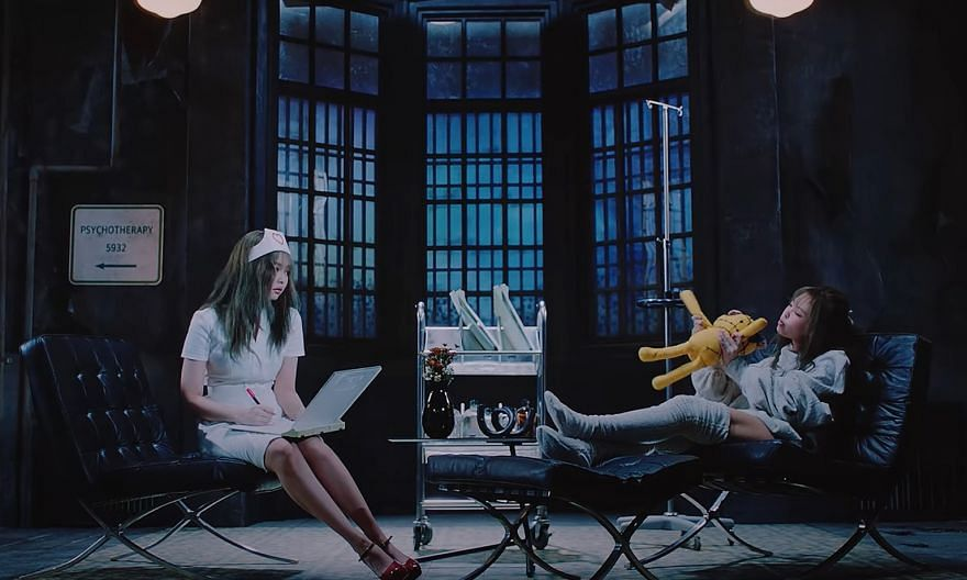 YG Entertainment is considering editing a scene in Blackpink's Lovesick Girls music video following an outcry over member Jennie's nurse outfit (left), which sparked hashtags such as #Stop_Sexualizing_Nurses.