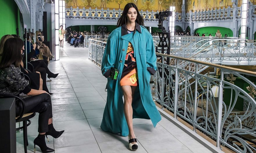 Louis Vuitton's Spring/Summer 2021 show on Tuesday was held in the long-closed La Samaritaine department store, which is due to reopen next year.