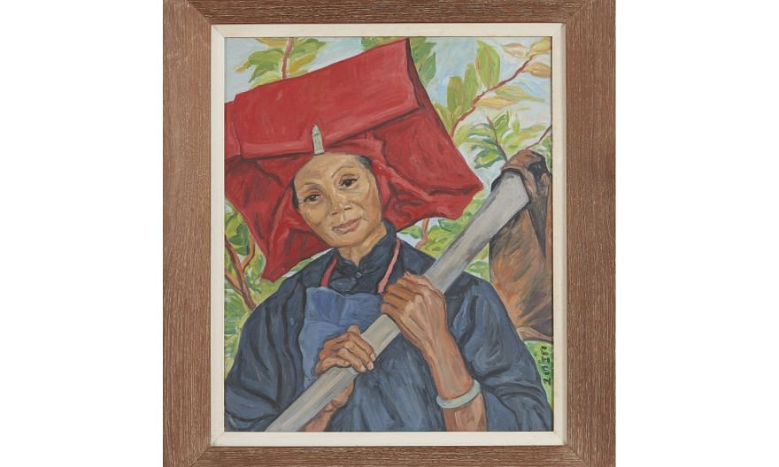 The Sam Sui Worker (above) by Georgette ?Chen sold for HK$2.75 million (S$482,409), twice its pre-sale estimate. Other Singapore artists who sold well at the auction included Chen Wen Hsi and Tan Choh Tee.