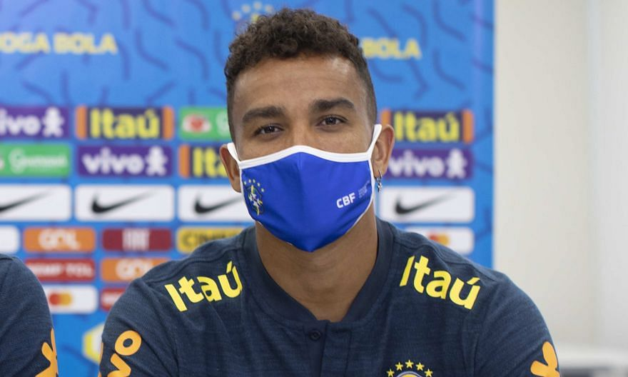 Danilo at a press conference in Teresopolis, the Selecao's training base, on Wednesday.