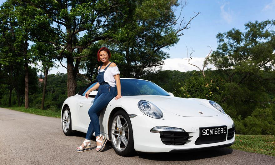 Co-founder of non-profit The Food Bank Singapore Nichol Ng bought her Porsche 911 Carrera Cabriolet a few months after her father died and retained his car registration number in memory of him.