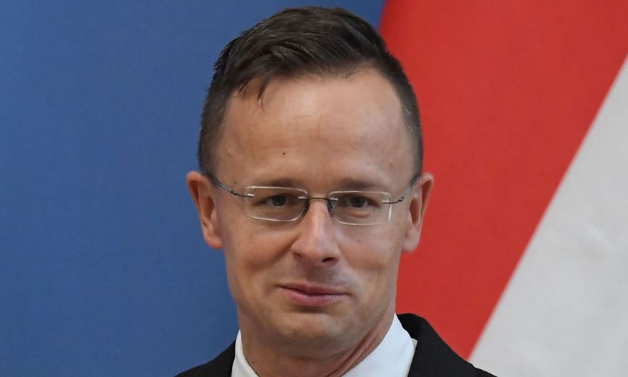 Hungarian Foreign Minister Peter Szijjarto was in Singapore on a one-day visit yesterday.