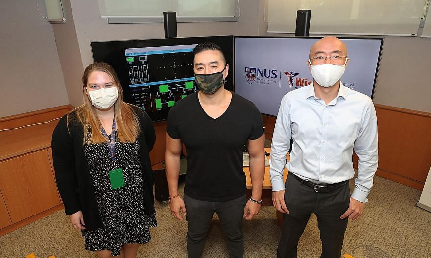 (From left) Dr Alexandria Remus, Professor Dean Ho and Dr Takashi Obana are researchers from the Institute for Digital Medicine at the National University of Singapore's Yong Loo Lin School of Medicine who have worked on the IDentif.AI and CURATE.AI