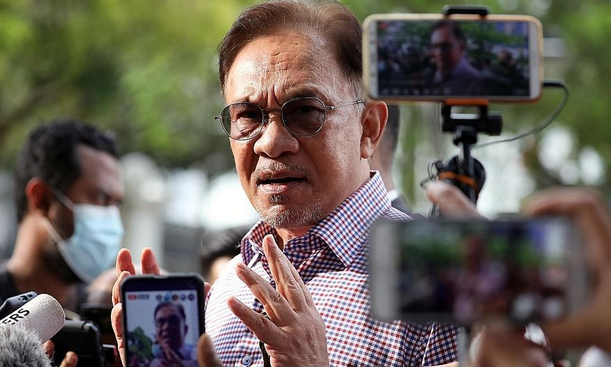 Malaysian opposition leader Anwar Ibrahim says at least 120 members of the federal legislature support him in taking over as prime minister. PHOTO: REUTERS
