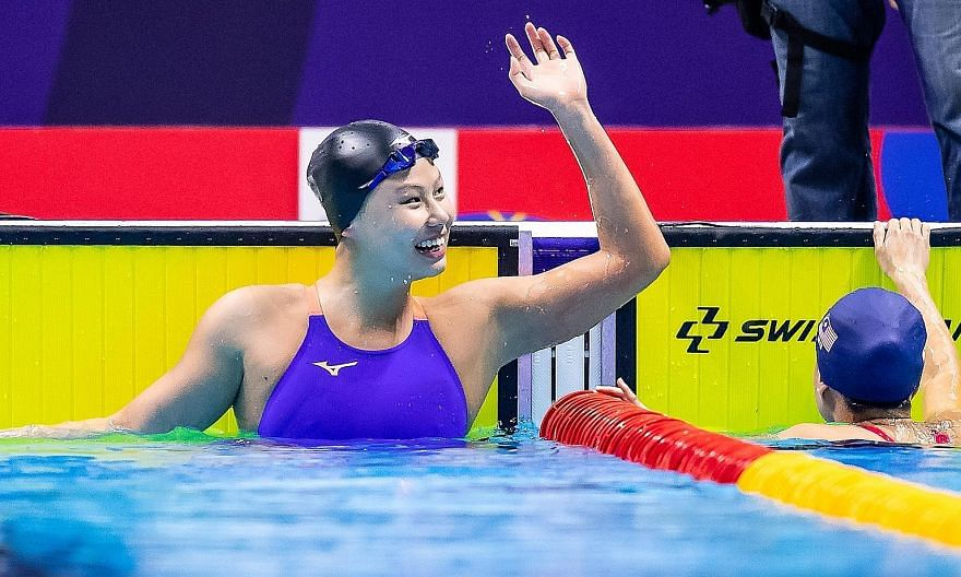 Christie Chue after winning the 200m breaststroke at last year's SEA Games in the Philippines. Pursuing her degree at Florida International University in the US appeals to the 20-year-old, as her friends have told her there is a better balance betwee