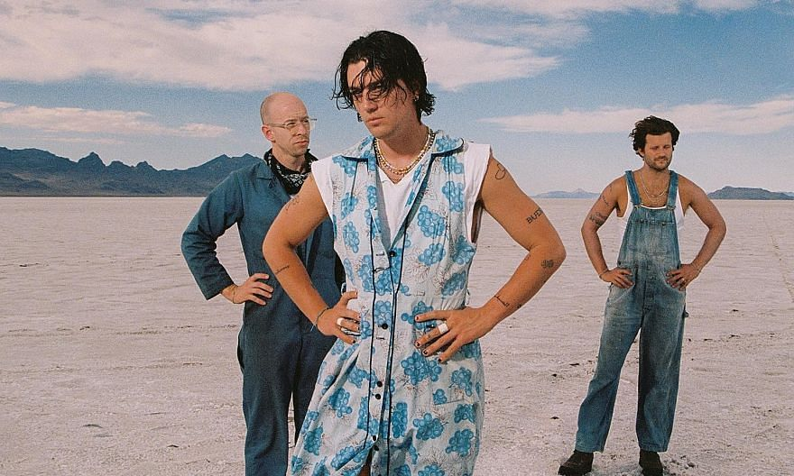 """American indie-pop trio Lany's (from left) Charles """"Les"""" Priest, Paul Klein and Jake Goss."""