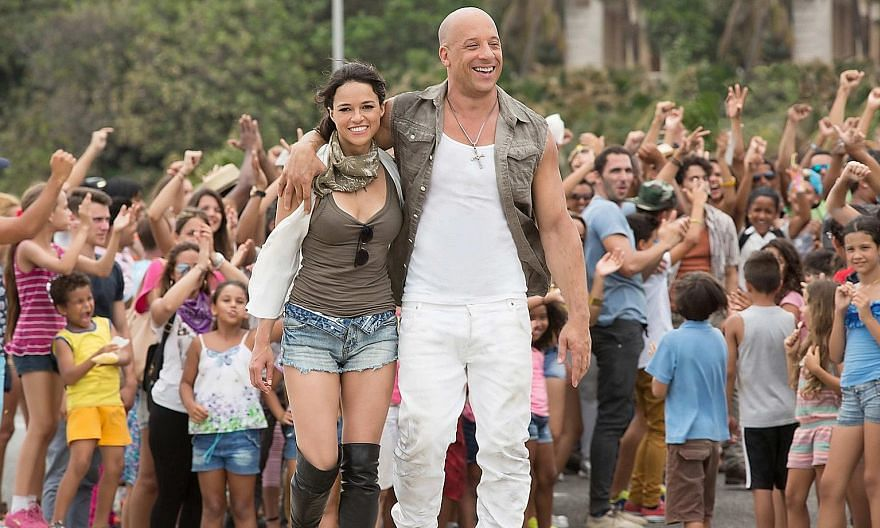 Fast & Furious 8 starring Vin Diesel (left). The series will conclude after 11 films.