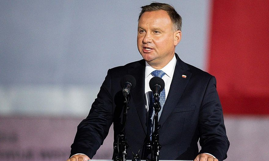 Polish President Andrzej Duda is subject to quarantine but is feeling well, as more restrictions to curb the spread of the virus came into force in Poland yesterday.