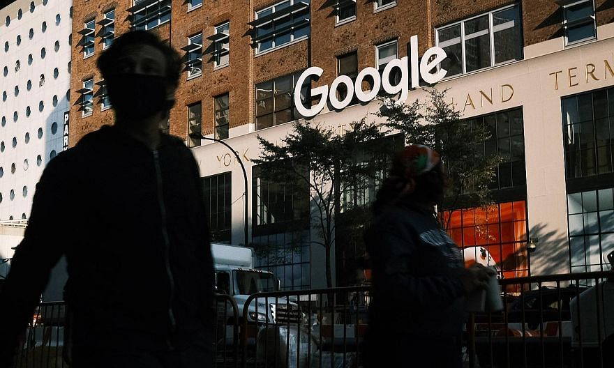 Google's offices in downtown Manhattan in New York City. In a complaint against Google, backed by the Republican attorneys-general of 11 US states, the Department of Justice ended years of inaction on the part of the United States antitrust authoriti