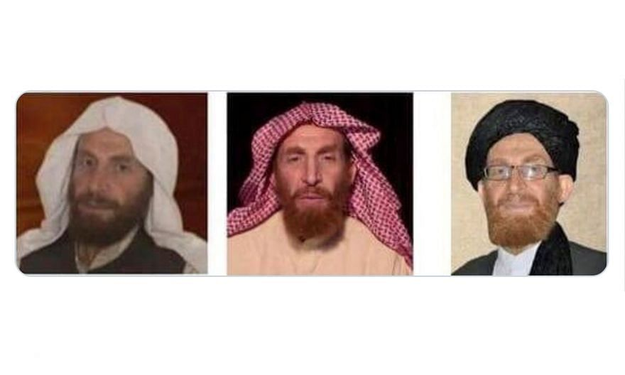 A tweet from the National Directorate of Security in Afghanistan saying that Abu Muhsin Al-Masri had been killed in operations is accompanied by three profile photos of the top Al-Qaeda militant.
