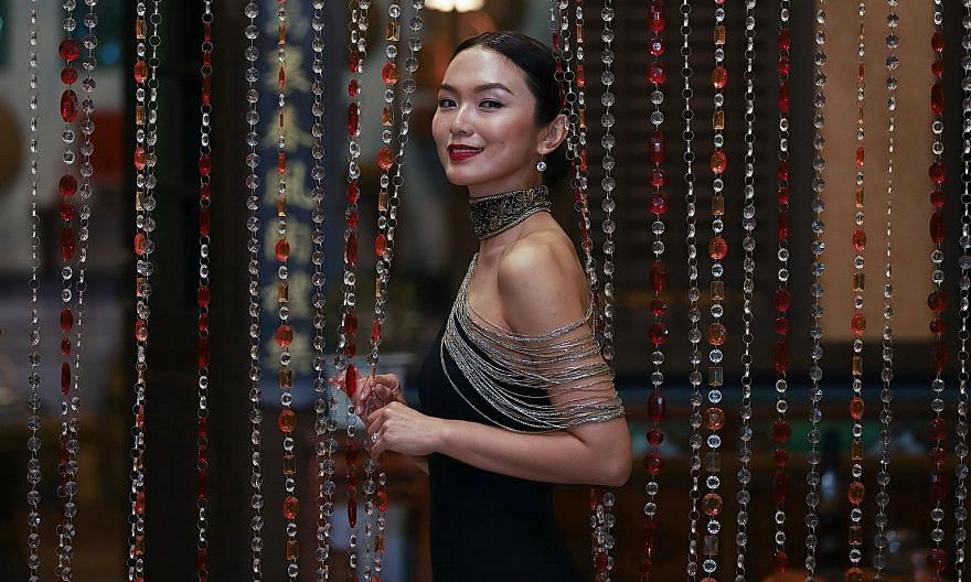Local actress Joanne Peh on the set of Last Madame, Mediacorp's first M18 series, in October last year.