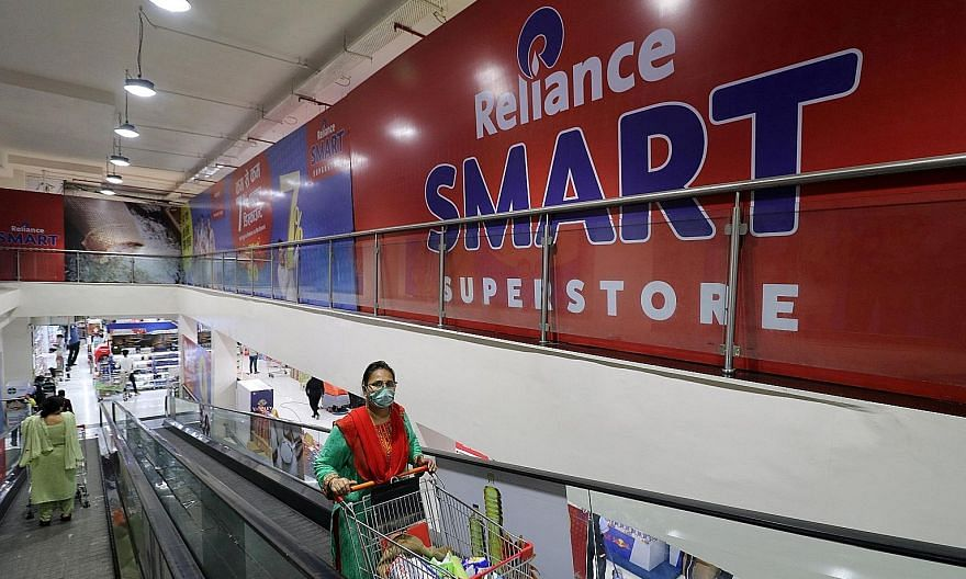 One of Reliance Industries' superstores in Mumbai, India. Amazon and Reliance are set to go head to head in a battle for dominance in India's booming e-commerce market, which will be worth US$86 billion (S$117 billion) by 2024, according to research