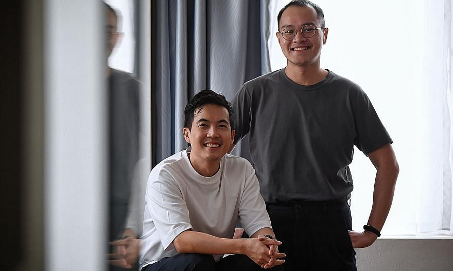 (Above) Actor-director Tan Shou Chen (left) and playwright Joel Tan (right) worked on audio drama A Bird Calls You To Moscow. (Left) Multidisciplinary artist Irfan Kasban's work, The Silence Of A Falling Tree, invites listeners to be part of a perfor
