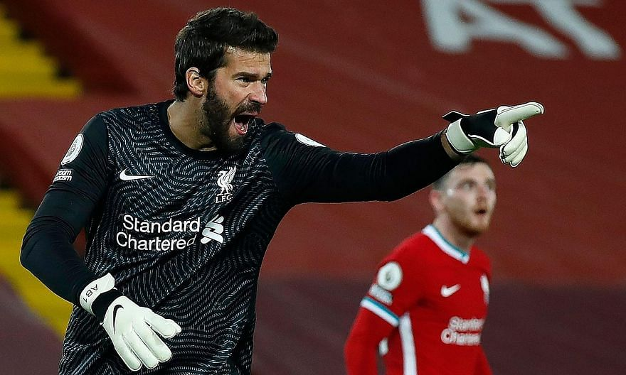 The early return of Brazilian goalkeeper Alisson Becker is a relief to Liverpool, who are battling an injury crisis. PHOTO: AGENCE FRANCE-PRESSE