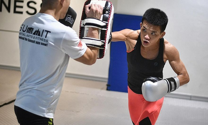 MMA fighter Tiffany Teo training for Friday's strawweight fight against China's Xiong Jingnan at the Indoor Stadium. The 30-year-old will attempt to become the first Singaporean world champion in One Championship.