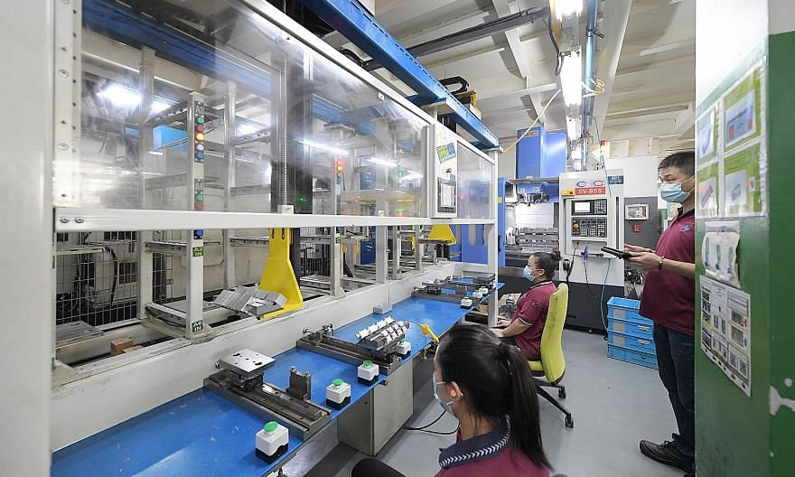 Globaltronic Precision has seen its revenue rise almost 40 per cent since it added an automation line that serves 13 computer numerical control machines, while production quality has gone up. Manpower has been freed up for other tasks and the company
