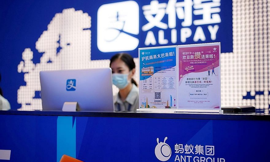 Ant, which runs China's biggest mobile payments platform Alipay, is an affiliate of e-commerce giant Alibaba Group Holding. It will offer 41.76 million shares, or 2.5 per cent of its total shares in Hong Kong, to retail investors. PHOTO: REUTERS