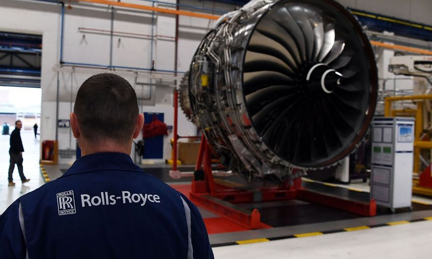 A Rolls-Royce factory in Derby, England, in 2016. Staff at a plant in Barnoldswick, Lancashire, are reportedly planning a strike. PHOTO: AGENCE FRANCE-PRESSE